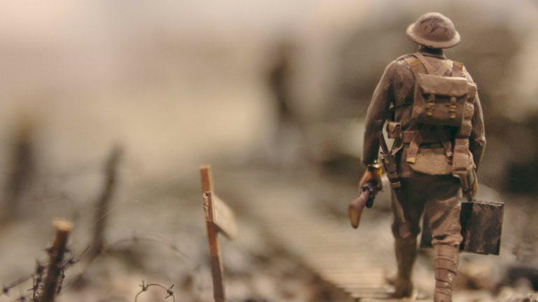 Soldier in battlefield