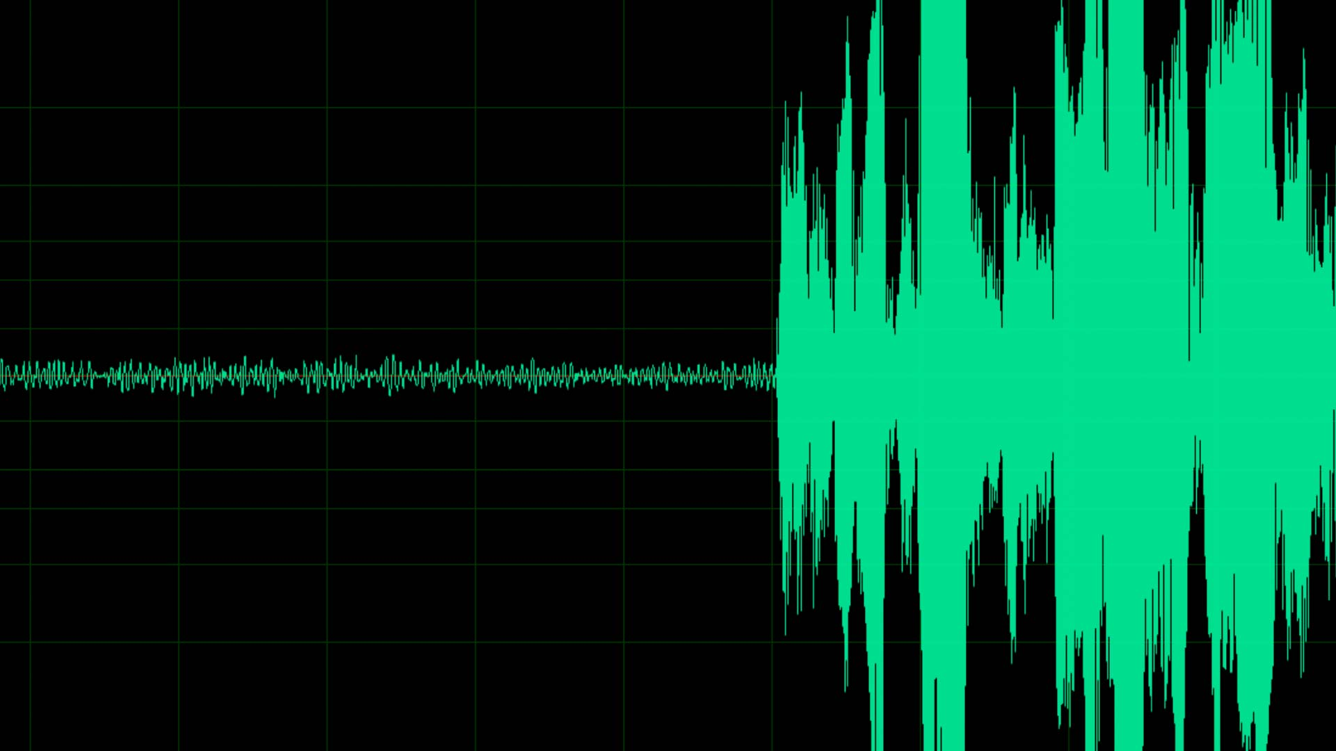 Sound Wave from Silence to Volume
